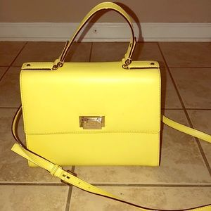 Kate Spade yellow leather hand bag